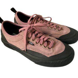 Vans ComfyCush Pink Suede Skaters Sneakers EUC
